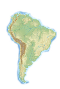 Südamerika-Karte